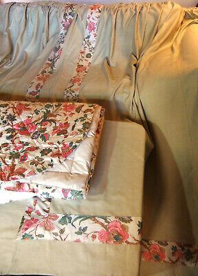 couvre lit romanex simbad paire de grands double rideaux assortis