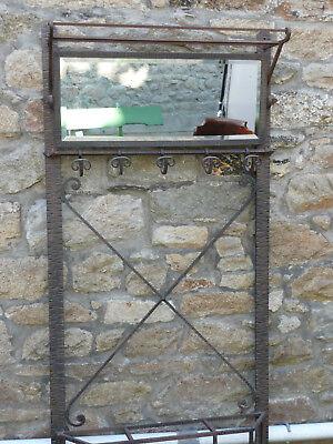 porte manteau mural fer forge martele ancien pateres porte parapluie reignoux