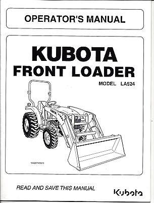 KUBOTA L3200 & L3800 +LA524 Tractor Operator's Manual PLUS