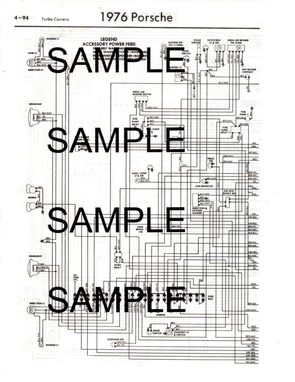 medium resolution of porsche 911 wiring diagrams free download wiring library 1 of 2free shipping 1976 porsche 912e 76