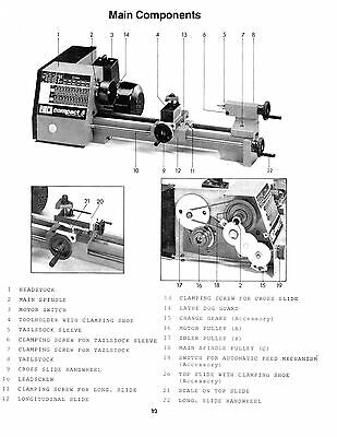 EMCO COMPACT 5 Lathe Instruction & Service Parts List