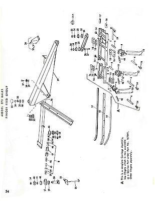 NEW HOLLAND 273 Hay Baler Hayliner Parts Catalog Book List