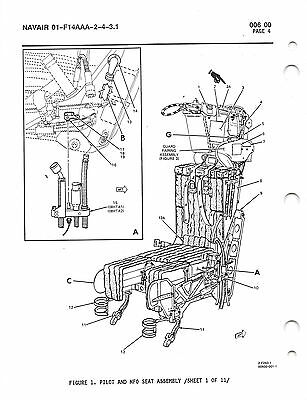 MK-GRU7A F-14 EJECTION Seat Maintence W/IPB Flight Manual