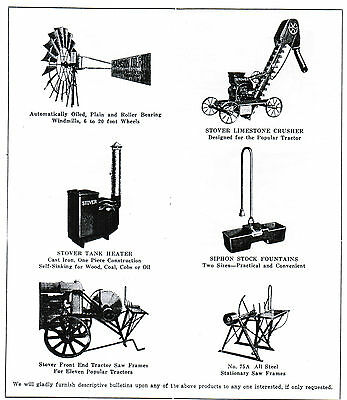 STOVER TYPE K Gas Engine motor Manual book parts list hit