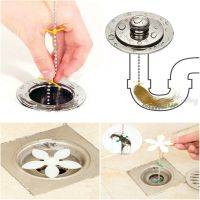 Bathroom Shower Drain Wig Chain Cleaner Hair Clog Remover
