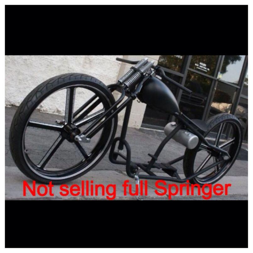 bobber with springer front end   Jidimotor co