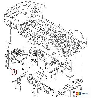 NEW GENUINE AUDI A3 8P 04-13 Front Engine Under Tray Belly