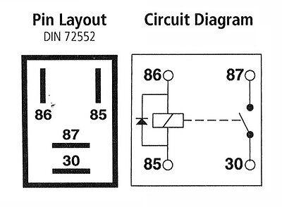 MICRO RELAY 4 PIN 12v 20a + Diode Normally Open Mini 20