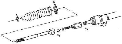 NEW SWS MUSTANG Ii Power Steering Rack & Pinion Inner Tie