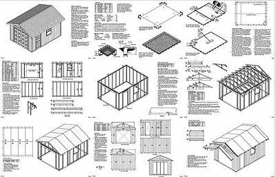 12 x 20 Garage Plans Shed Building Blueprints, Design