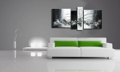 Canvashop quadri moderni soggiorno cm 120x60 mare 14 quadro stampa su tela canvas. Quadri Moderni Astratti Fiore Bianco E Nero Grigio Arredo Casa Divano Eur 149 00 Picclick It