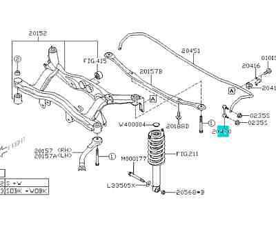 00-09 SUBARU LEGACY Outback Baja Rear Stabilizer Link Set