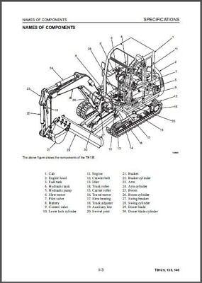 TAKEUCHI TB125 TB135 TB145 Compact Excavator Service