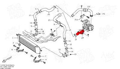 DURITE MANCHON DE turbo echangeur Nissan Qashqai 1,5 l Dci