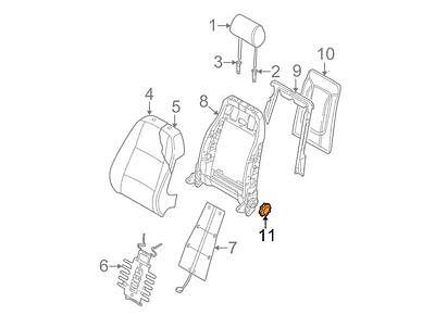 AUDI NEW GENUINE A4 B6 B7 Black Front Seat Backrest