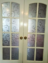 ELEGANT FROSTED ETCHED Glass Static Stained Decorative ...