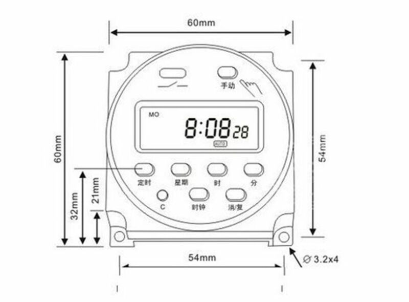 12V DC DIGITAL Time Switch Timer Counter LCD Display Power