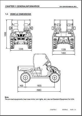 LINHAI BIGHORN 400 4X4 ( LH400CUV-2 ) Service Manual CD
