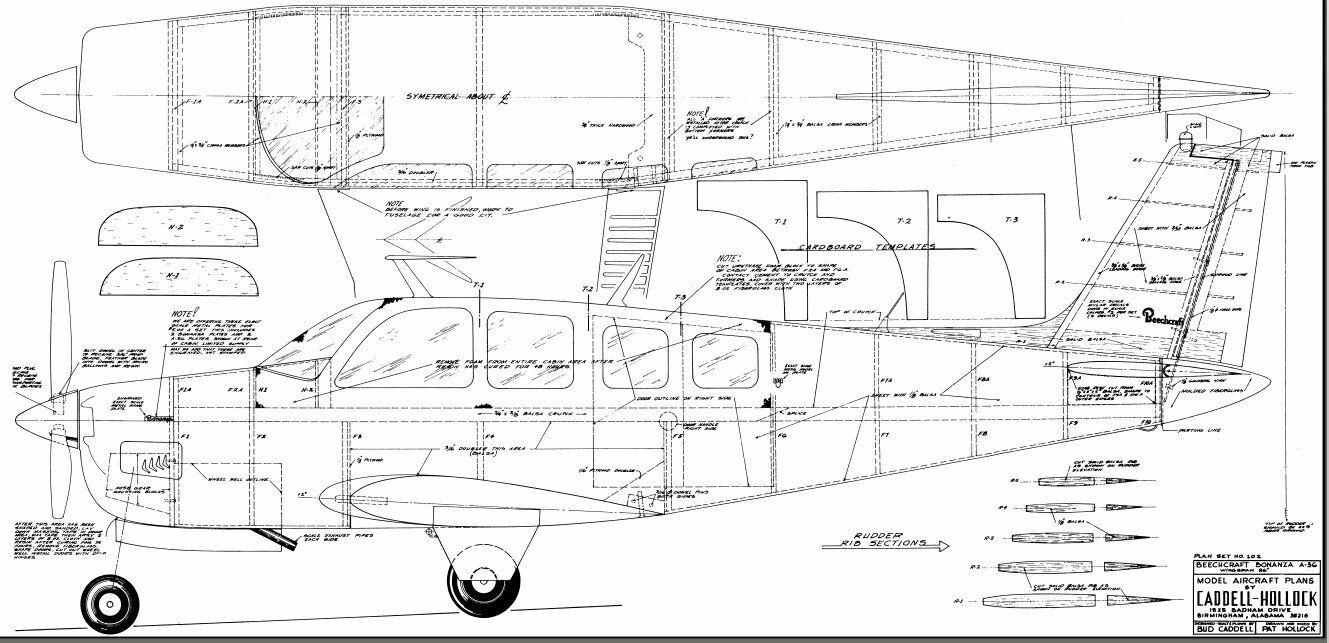1/5 SCALE BEECHCRAFT Bonanza 86 inch Giant Scale RC