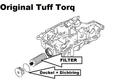 ORIGINAL OIL FILTER and Lid KIT for TUFF TORQ Gears