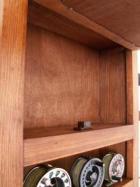 FLY ROD & REEL STORAGE CABINET pick stain & fish Fly ...
