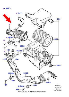 VOLVO C30 S40 V50 1.6D Air Filter Flow Intake Hose Pipe