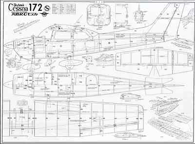CESNA 172 SKYHAWK 54 inch Giant Scale RC AIrplane Rolled
