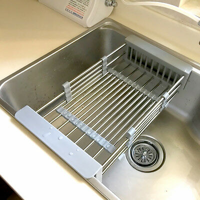 kitchen drainer basket bar stools ikea sink storage in945 dish drying rack holder 10 of 12 organizer