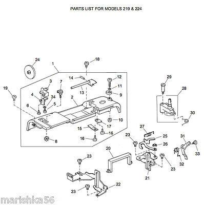 HUSQVARNA VIKING HUSKYSTAR 219 224 Service manual & Parts
