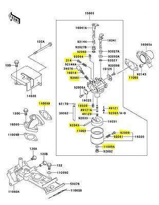 KAWASAKI 2500 2510 2520 Mule Parts Carburetor / Carb