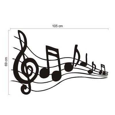 Note musicali di alta qualità musica adesivi murali in pvc soggiorno decalcomanie. Home Decor Wall Stickers Adesivi Murali Pentagramma Con Note Musica Chiave Violino Music Home Garden
