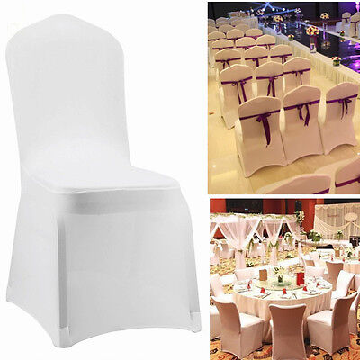 folding chair covers black universal banquet 10 20 100 white spandex fitted wedding 1 of 6free shipping party