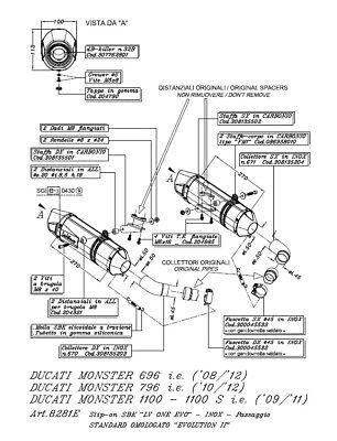 LEOVINCE LV One II Auspuff Schalldämpfer Endtopf Ducati