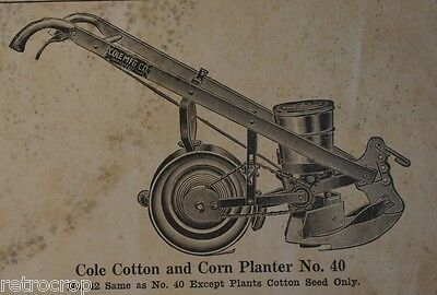 Cole Mfg Corn Planter