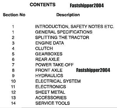 MASSEY FERGUSON TRACTORS Service Manual Repair 230 231