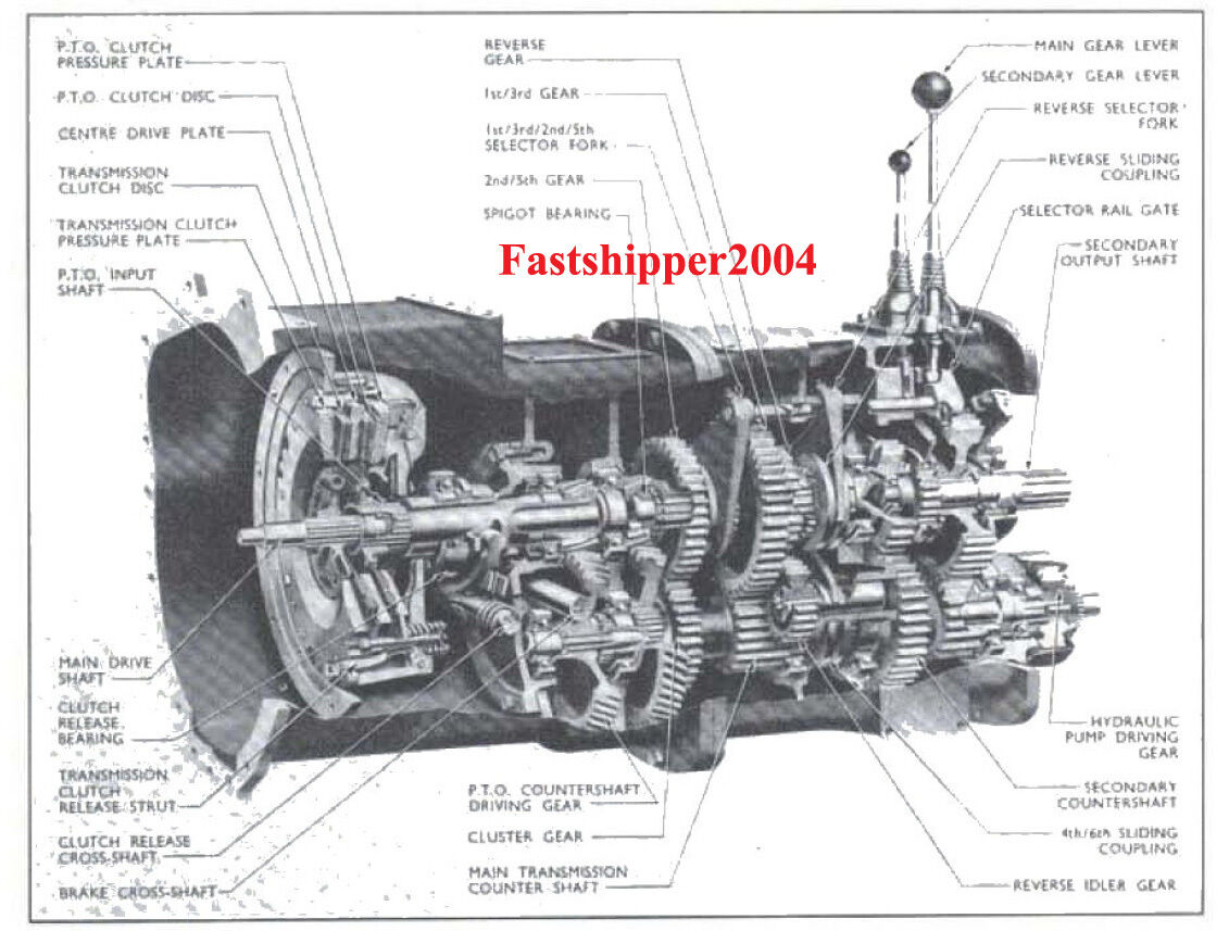 FORDSON DEXTA SUPER Dexta Tractors Shop Service Manual