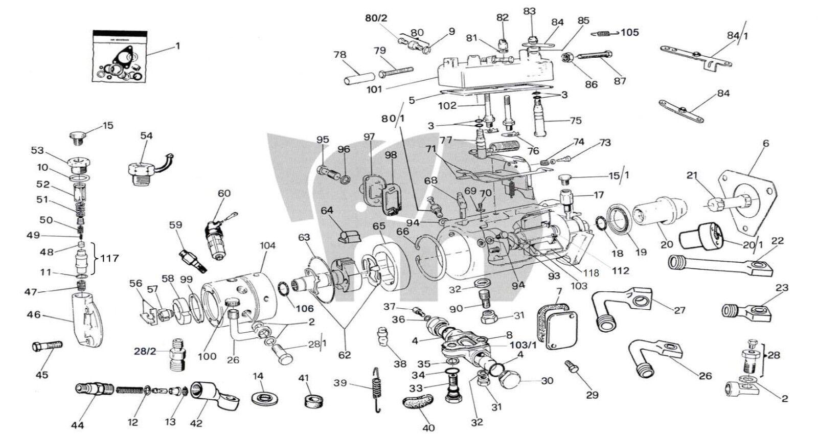 CAV GASKET SEALS Kit 2 3 4 6 Cylinder Injection pump