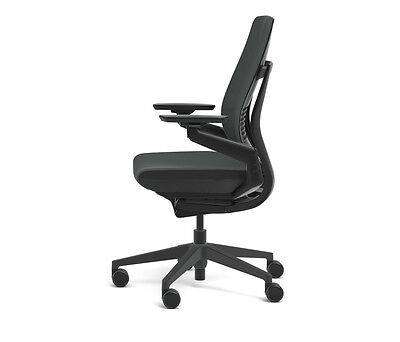 steelcase gesture chair dining room chairs with arms new adjustable cogent connect shell black 1 of 12free shipping frame graphite
