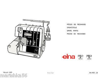 ELNA PRO 904 DCX-905 DCX Service Manual & Parts on CD or