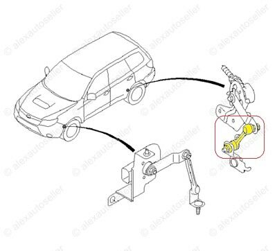 REAR OEM HEADLIGHT height level sensor link Subaru