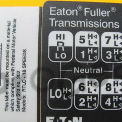 Eaton Fuller 9 Speed Transmission Diagram 2 Phase Electric Motor Wiring 18 Shift Pattern Rtlo