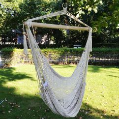 Hanging Tree Swing Chair Egg White Leather Cotton Rope Hammock Seat Patio Porch Garden 1 Of 6free Shipping Outdoor