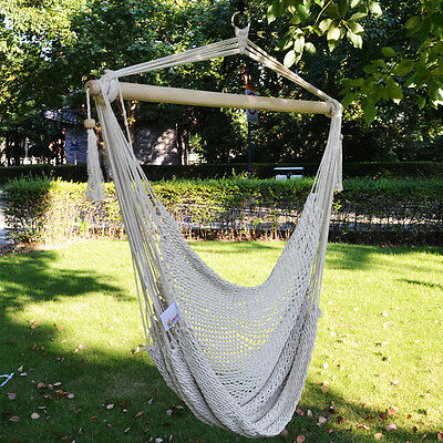 hanging tree swing chair a hammock indoors cotton rope seat patio porch garden 1 of 6free shipping outdoor