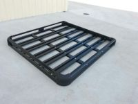 180x124cm Black Coated Aluminium Car/4WD Roof Rack Luggage ...