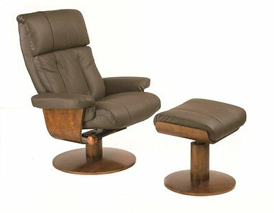 dark brown leather chair humanscale freedom review new norfolk massaging recliner walnut wood 9 of 12 mac motion