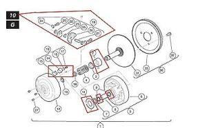 OEM CLUB CAR Golf Cart Drive Clutch Rebuild KitParts Kit