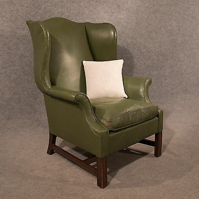 gentlemans chair cover rental places near me antique leather armchair large wing gentleman s english victorian c1900