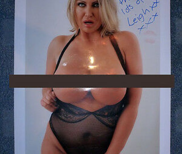 Signed Leigh Darby Adult Glamour Model Giant Poster Autograph