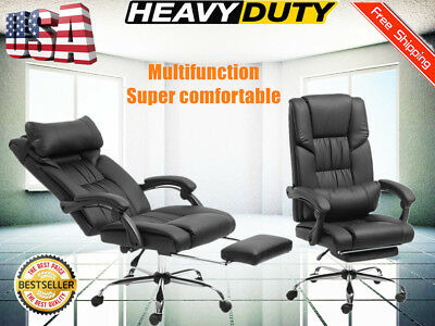 ergonomic chair with footrest office gray executive high back reclining armchair bp