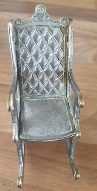 Antique Miniature Silver Chair  75.00